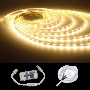 Indoor IP20 5M Strip w/ Remote Kit, White
