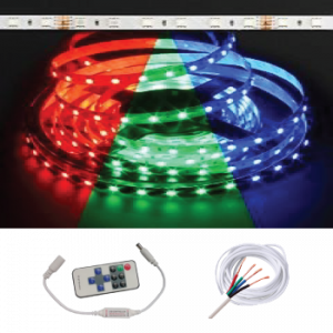 Waterproof IP68 5M Strip w/ Remote Kit, RGB