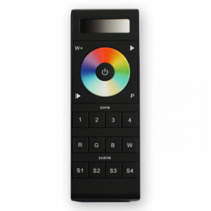 Wireless RF Remote Dimmer - Full Color + White, 4 Zone