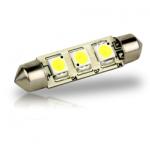 Pointed Festoon 3 LED Light Bulb - 42mm-$3.95