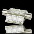 Barrel Festoon 9 LED Navigation Light Bulb - 43mm
