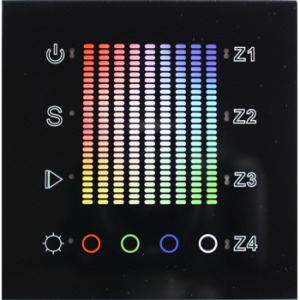 Professional FCC RF Dimmer, Full Color+White, 4 Zone Wall Mount
