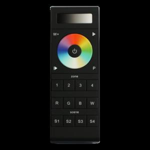 Professional FCC Wireless RF Remote Dimmer, Full Color+White, 4 Zone