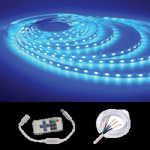 Waterproof IP68 5M Strip w/ Remote Kit, Blue