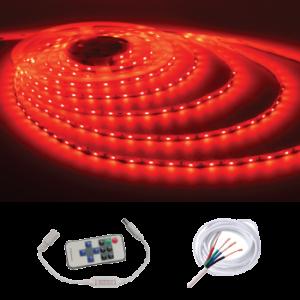 Waterproof IP68 5M Strip w/ Remote Kit, Red