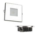 "2.8"" Indoor/Outdoor Recessed LED, 2800K 85 CRI Dimmable, Square"