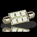 Pointed Festoon 6 LED Light Bulb - 37mm