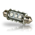 Pointed Festoon 12 LED Light Bulb - 37mm