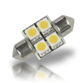 Pointed Festoon 4 LED Light Bulb - 31mm