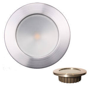 """ZERO EMI"" Indoor/Outdoor Recessed 3.5"" LED, Brushed Stainless Trim"