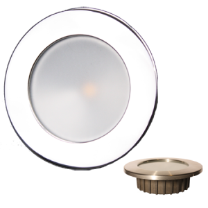 """ZERO EMI"" Indoor/Outdoor Recessed 3.5"" LED, Polished Stainless Trim"
