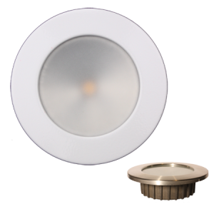 """ZERO EMI"" Indoor/Outdoor Recessed 3.5"" LED, White Stainless Trim"