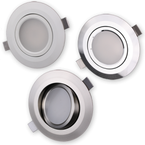 "ZERO EMI Swivel Recessed 3.5"" LED w/ Polished, Brushed or White Trim"