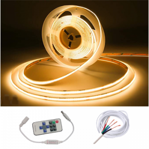 Waterproof IP68 COB 5M Strip w/ Remote Kit White
